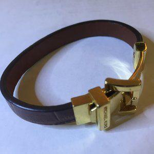 Michael Kors Leather Buckle Bracelet